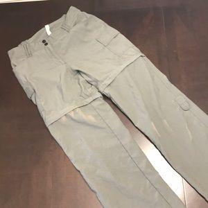 Rugged extreme hiking pants shorts army green sz S